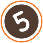 5 in a circle