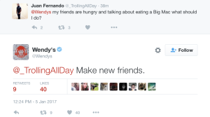 Wendy's Twitter Example