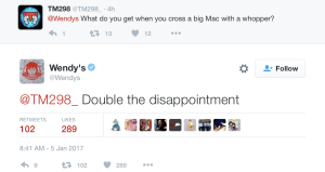 Wendy's Twitter Disappointment