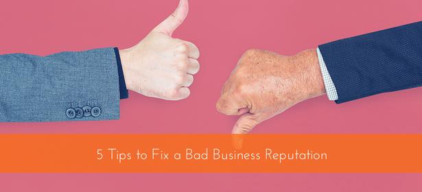 fix bad business reputation